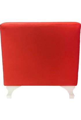 Mobilyapi Kırmızı Hafif Kare Puf 40x40