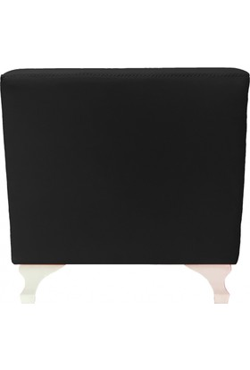 Mobilyapi Siyah Hafif Kare Puf 40x40
