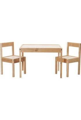 Bino Latt Çocuk Oyun Çalışma Masa Sandalye Takımı