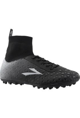 Lig Simav Siyah Çim Boğazlı Halısaha Futbol Erkek Spor Ayakkabı