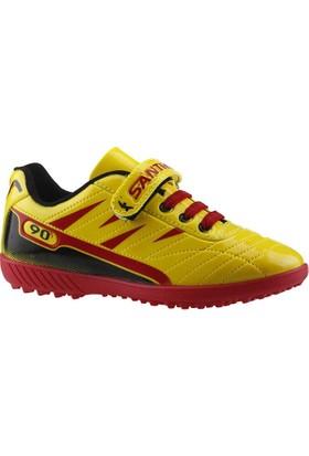 By Santra Sarı Halı Saha Erkek Çocuk Futbol Ayakkabı