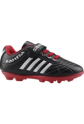 By Santra Siyah-K Çim Saha Erkek Çocuk Krampon Futbol Ayakkabı