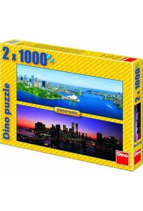Dino Brooklyn Bridge - Sydney, Dino 2X1000 Parça Puzzle