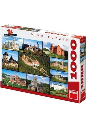 Dino Castles, Dino 1000 Parça Puzzle