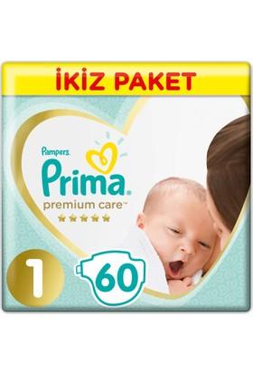 Prima Bebek Bezi Premium Care 1 Beden Yenidogan Ekonomi Paketi 60 Adet