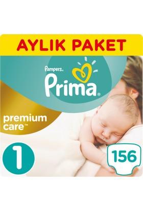 Prima Bebek Bezi Premium Care 1 Beden Yenidoğan Aylık Paket 156 Adet