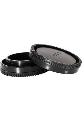 Ayex Sony Nex, E Mount İçin Body Kapağı Ve Lens Arka Kapağı