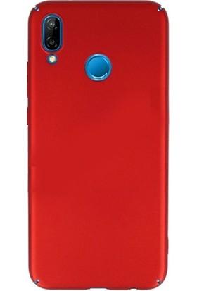 Newface Huawei P20 Lite Slim Fit Premium Silikon Kılıf - Kırmızı