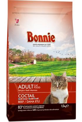 Bonnie Biftekli Kokteyl Kedi Maması 1,5 kg