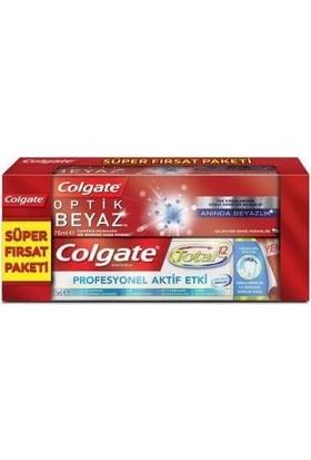 Colgate Diş Macunu Total Pro Aktif + Optik Beyaz Anında Beyazlık 75 ml