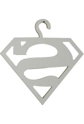 Pratico Mobilya Superman Çamaşır Askısı - Çocuk Çamaşır Askısı - Ahşap
