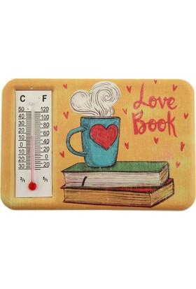 Dekodem Termometreli Kitap Baskılı Magnet