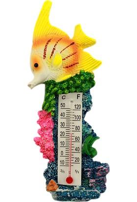 Dekodem Polyester Termometreli Balık Magnet