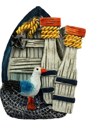 Dekodem Denizci Kayık Polyester Magnet - Buzdolabı Süsü