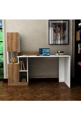 Arnetti Moden Çalışma Masası Beyaz Ceviz