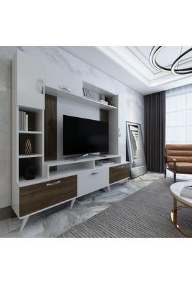 Arnetti Ebru Tv Ünitesi Ceviz Beyaz