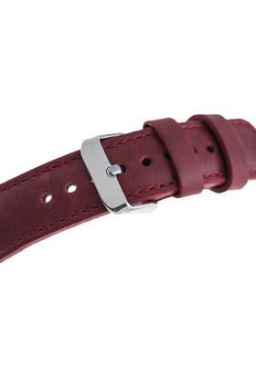 Burkley Apple Watch Kırmızı Deri Kordon CZ04 / 38 mm