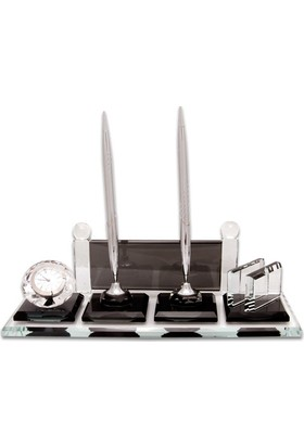 Kristal Gümüş Masa İsimliği (Dolma Ve Tükenmez Kalemli) KC501A