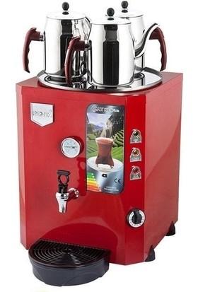 Remta Remta Çay Ocağı Kazanı Makinesi 40 Lt 3 Demlik Elektrikli Kırmızı