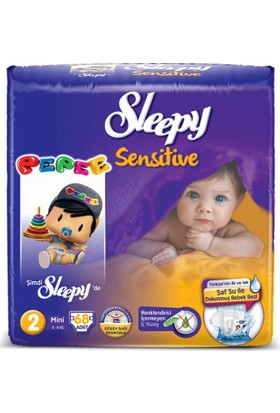 Sleepy Sensitive Pepee 2 Beden Mini 68 Adet Bebek Bezi
