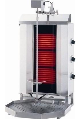 Kalitegaz Elektrikli Döner Ocağı Makinası 3 Radyanlı Üstten Motorlu Camlı