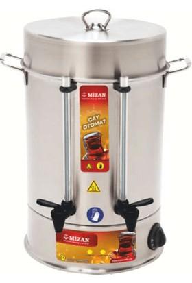 Mizan Sanayi Tipi Çay Makinesi 40 Bardak Metal Mizan Çaymatik Semaveri