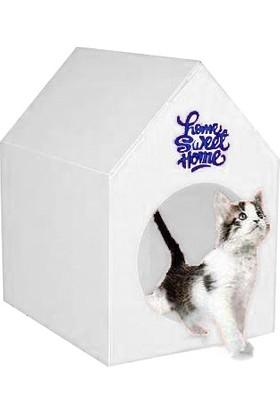 Sweet Home Su Gecirmez Kedi Evi Beyaz