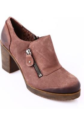 Mammamia D18Ka-560 Kadın Ayakkabı Günlük Kakao Nubuk