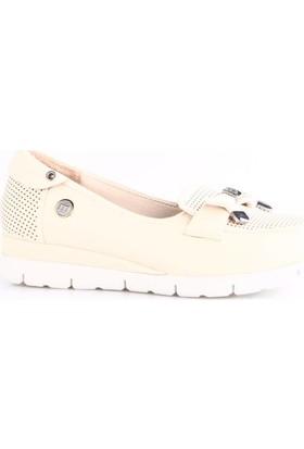 Mammamia 3235B Kadın Günlük Ayakkabı Bej Faber