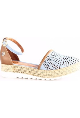 Mammamia 1380B Kadın Sandalet Kot Mavi Faber