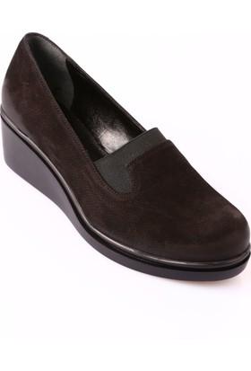 Mammamia D18Ka-20 Kadın Ayakkabı Günlük Siyah Nubuk
