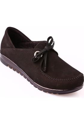 Mammamia D18Ka-460 Kadın Ayakkabı Günlük Siyah Nubuk