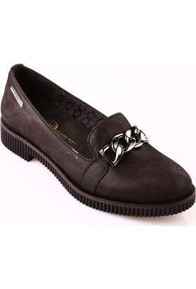 Mammamia D18Ka-430 Kadın Ayakkabı Günlük Siyah Simli Flotur