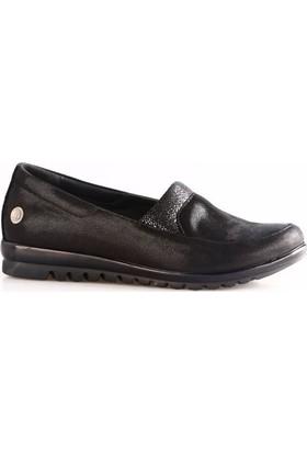 Mammamia 745B Kadın Günlük Ayakkabı Siyah Saten