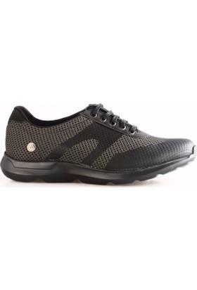 Mammamia 7265L Erkek Günlük Ayakkabı Haki Örgü Siyah
