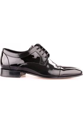 Nevzat Onay 6382-350 Erkek Kösele Taban Klasik Ayakkabı Siyah Rugan