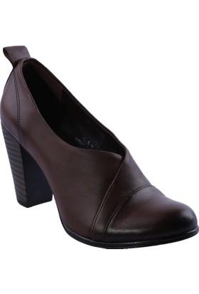 Beety 5005 Kadın Topuklu Ayakkabı Int-30 Ceviz