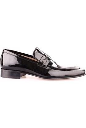 Nevzat Onay 6Y6317-172 Erkek Kösele Ayakkabı Siyah Rugan