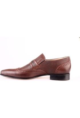 Nevzat Onay 8068-750 Erkek Kösele Taban Klasik Ayakkabı Kahve