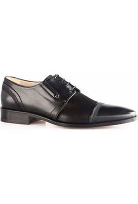 Nevzat Onay 8181-750 Erkek Kösele Taban Klasik Ayakkabı Siyah Antik