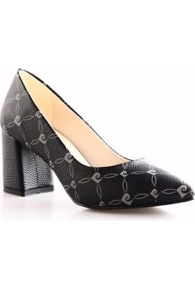 Pierre Cardin 91043 Kadın Sivri Burun Topuklu Ayakkabı Int-89 Siyah