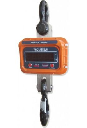 Tess Elektronik Vinç Terazi Baskülü Dijital Tartı Aleti 3000 Kg 500 Gr
