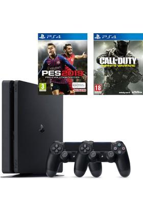 Sony PS4 Slim 500Gb Oyun Konsolu + 2. PS4 Kol + PS4 Pes 19 + PS4 Call Of Duty