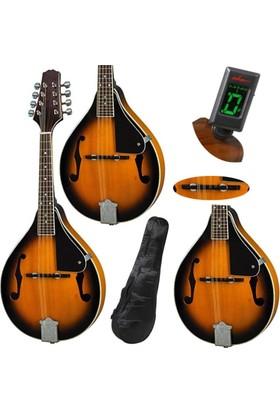 Maestro Mandolin Ayarlı Eşikli Profesyonel Mandolin & Akort Aleti Ve Soft Case İle