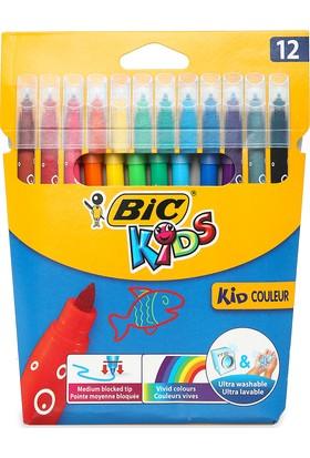 Bic Kid Couleur (Ultra Yıkanabilir) Keçeli Boya Kalemi 12'li
