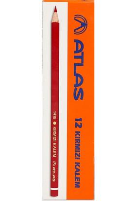 Atlas 418300 Kırmızı Kopya Kalemi 12'Li