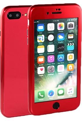 Syronix Apple iPhone 7 Plus Manyetik 360° Tam Koruma Kılıf Kırmızı
