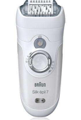 Braun Silk-épil 7 7-561 Islak ve Kuru Kablosuz Epilatör/ Epilasyon + Bikini Bölgesi Kırpıcı Dahil 8 Adet Ekstra