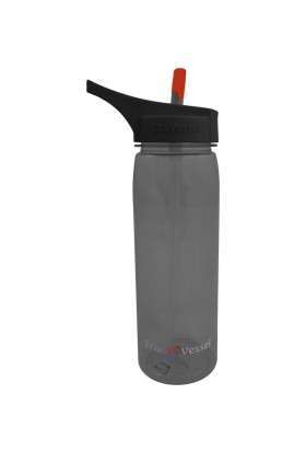 Eco Vessel Wave - Tritan Plastic Bottle With Straw Top 0,75 Lt Termos
