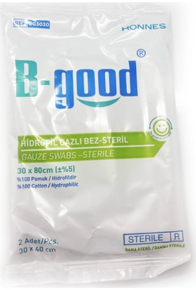 B-Good Hidrofil Gazlı Bez Steril 30cmx80cm - 1 Adet